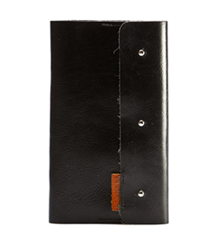 GOODJOB Business Card Holder (120) Dots - Leather Black