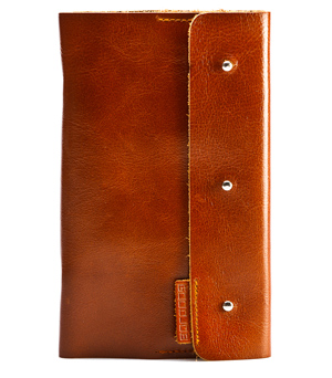 GOODJOB Business Card Holder (120) Dots - Leather Tan