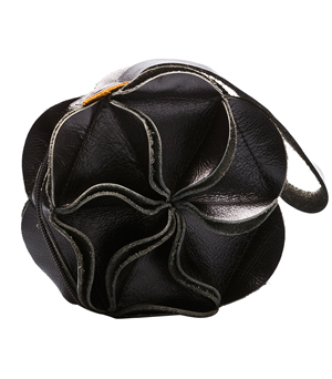 GOODJOB Purse Blossom - Leather Black