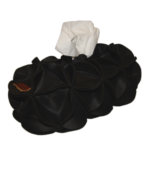 GOODJOB Tissue Box Holder Blossom - PVC Black