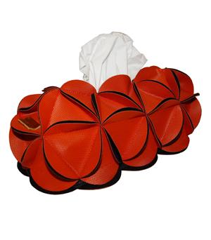 GOODJOB Tissue Box Holder Blossom - PU Orange