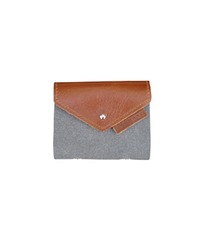 GOODJOB Card Holder (10) Hybrid - Recycle Leather Grey