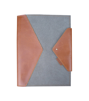 GOODJOB Notepad Holder A4 Hybrid - Recycled Leather Grey
