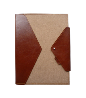 GOODJOB Notepad Holder A4 Hybrid - Recycled Leather Natural