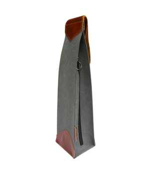 GOODJOB Wine Holder - Hybrid Recycled Leather Grey