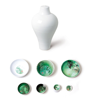 IBRIDE Serving Set Vase - Ming Blanc