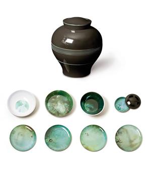 IBRIDE Serving Set Vase - Yuan Noir