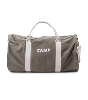IZOLA Canvas Duffel Bag - CAMP