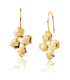JESSICA AGGREY JEWELLERY Sterling Silver Earrings - Element Cluster (Gold Plated)