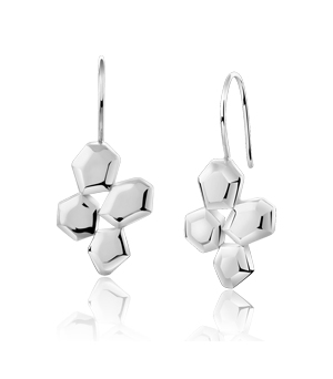 JESSICA AGGREY JEWELLERY Sterling Silver Earrings - Element Cluster