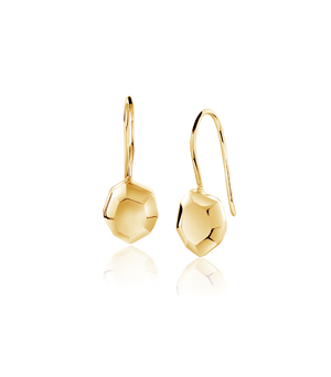 JESSICA AGGREY JEWELLERY Sterling Silver Earrings - Element Single (Gold Plated)