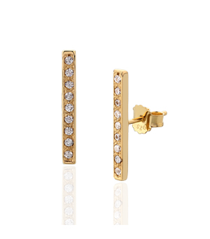 JESSICA AGGREY JEWELLERY Sterling Silver Earrings - Flash White CZ Gold Plated
