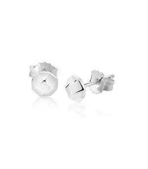 JESSICA AGGREY JEWELLERY Sterling Silver Earrings - Hex Stud