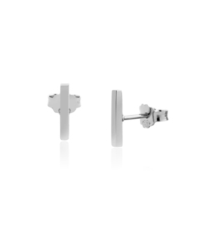 JESSICA AGGREY JEWELLERY Sterling Silver Earrings - Jen Post 10mm