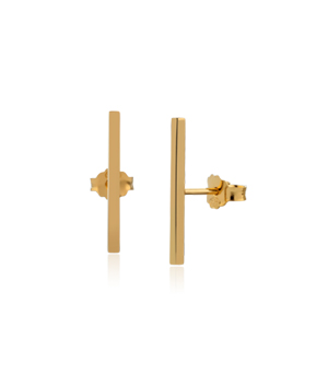 JESSICA AGGREY JEWELLERY Sterling Silver Earrings - Jen Post 20mm (Gold Plated)