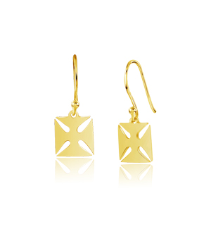 JESSICA AGGREY JEWELLERY Sterling Silver Earrings - Maltese Cross (Gold Plated)