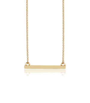 JESSICA AGGREY JEWELLERY Sterling Silver Necklace - Jen Bar (Gold Plated)