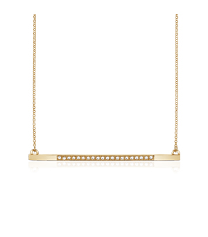JESSICA AGGREY JEWELLERY Sterling Silver Necklace - Radiance White CZ (Gold Plated)