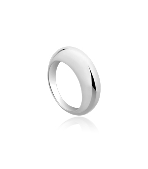 JESSICA AGGREY JEWELLERY Sterling Silver Ring - Bulbus (Dome)