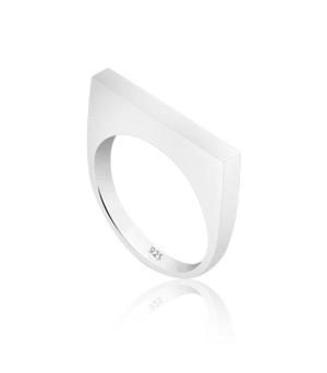 JESSICA AGGREY JEWELLERY Sterling Silver Ring - D Ring