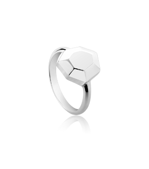 JESSICA AGGREY JEWELLERY Sterling Silver Ring - Element Crystal