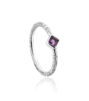 JESSICA AGGREY JEWELLERY Sterling Silver Ring - Sparkle Amethyst