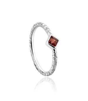JESSICA AGGREY JEWELLERY Sterling Silver Ring - Sparkle Garnet