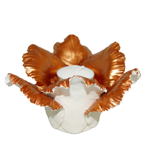 KIDDEE TAMDEE Daffodil Candle Holder - Natural Copper