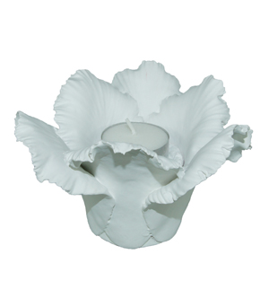 KIDDEE TAMDEE Daffodil Candle Holder - Matt White