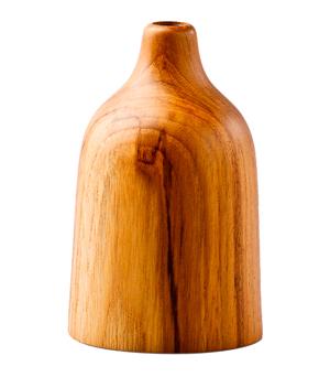KIDDEE TAMDEE Teak Vase - Bottle Small