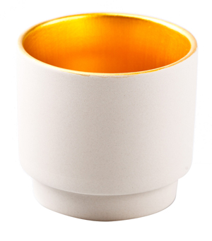 KIDDEE TAMDEE Luxury Candle Cup - Natural/Gold