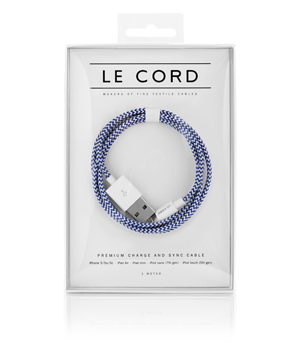 LE CORD Textile Cable - Broken Ocean