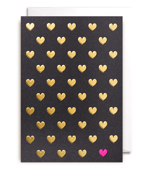 LAGOM / POSTCO Card - Gold Hearts
