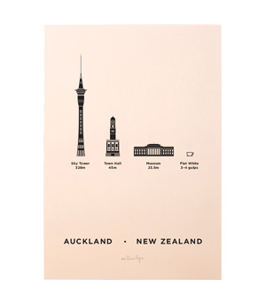 ME&HIM&YOU City Screen Print - Auckland
