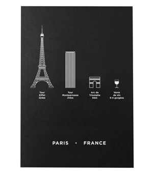 ME&HIM&YOU City Screen Print - Paris Limited Edition