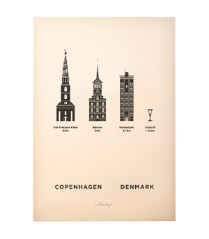 ME&HIM&YOU City Screen Print - Copenhagen