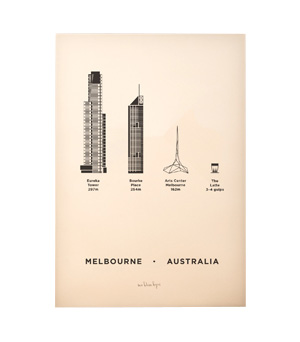 ME&HIM&YOU City Screen Print - Melbourne