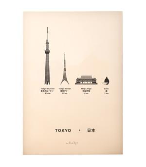 ME&HIM&YOU City Screen Print - Tokyo