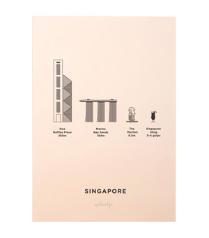 ME&HIM&YOU City Screen Print - Singapore