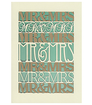 ROGER LA BORDE Lasercut Card - Mr & Mrs M2