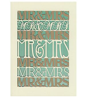ROGER LA BORDE Lasercut Card - Mr & Mrs M2