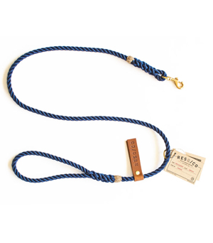 RESQ/CO Leash - 'The Skinny' - Navy
