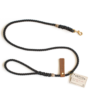 RESQ/CO Leash 'The Skinny' - Black