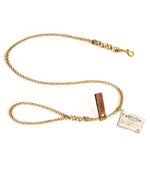 RESQ/CO Leash - 'The Skinny' - Natural
