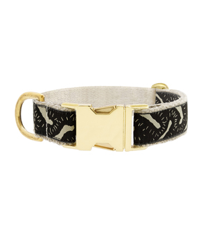 "SEE SCOUT SLEEP Collar 1"" - Life of the Party Black Cream"