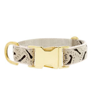 "SEE SCOUT SLEEP Collar 1"" - Life of the Party Cream Black"