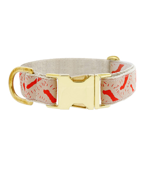 "SEE SCOUT SLEEP Collar 1"" - Life of the Party Cream Vermillion"