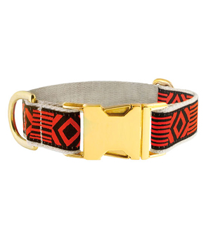 "SEE SCOUT SLEEP Brass Collar 1"" - Out of My Box Black Vermillion"