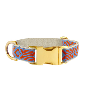 "SEE SCOUT SLEEP Collar 1"" - Out of my Box Blue Rust"