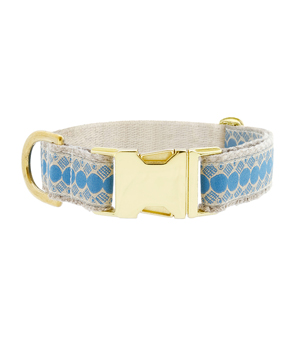 "SEE SCOUT SLEEP Collar 1"" - You're a Stud Cream Blue"